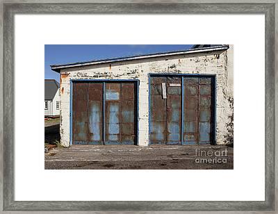 Old Garage Doors Iceland Framed Print