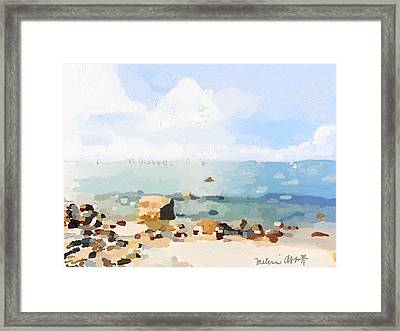 Old Garden Beach  Framed Print