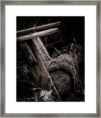 Old Garden Chair. Framed Print