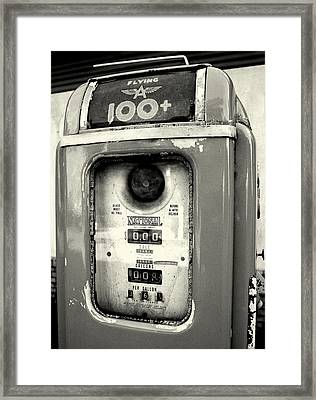 Old Gas Pump Framed Print by DazzleMePhotography
