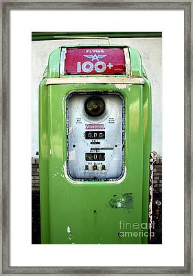 Old Gas Pump II Framed Print by DazzleMePhotography