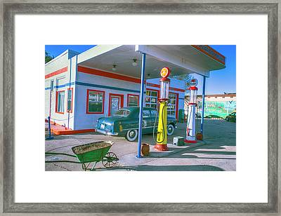 Old Gas Station Arizona  Framed Print