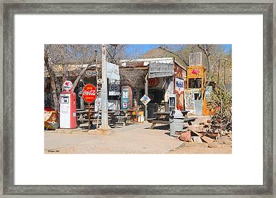 Old Gas Station, Historic Route 66 Framed Print