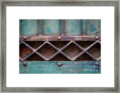 Framed Print featuring the photograph Old Gate Geometric Detail by Elena Elisseeva