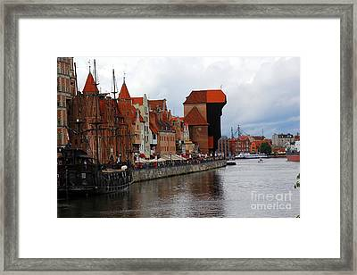 Old Gdansk Port Poland Framed Print by Sophie Vigneault