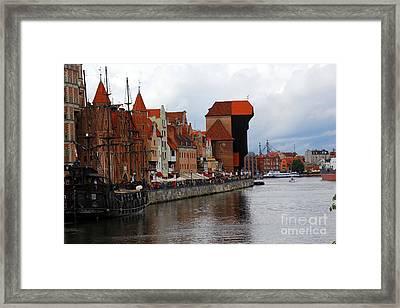 Old Gdansk Port Poland Framed Print