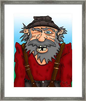 Old Geezer Framed Print by Ross Powell
