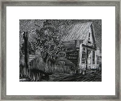 Old General Store Framed Print
