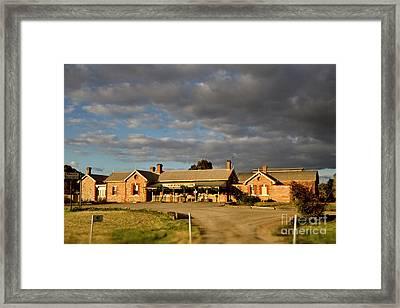 Framed Print featuring the photograph Old Ghan Railway Restaurant by Douglas Barnard