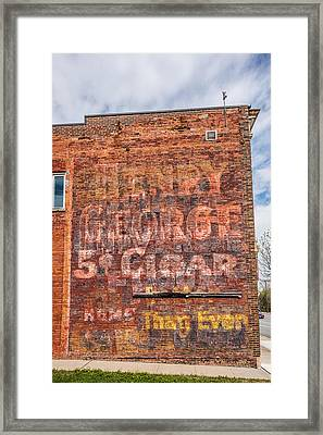 Old Ghost Sign Framed Print by Paul Freidlund