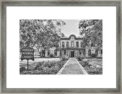 Old Gillespie County Courthouse Framed Print