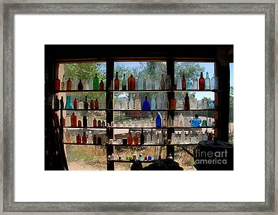 Old Glass Framed Print by David Lee Thompson