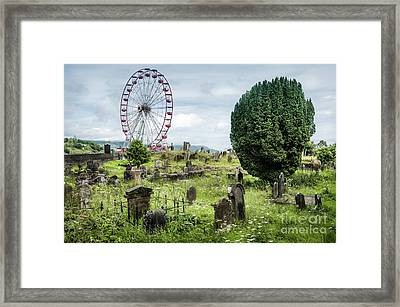 Old Glenarm Cemetery And Big Wheel  Framed Print by RicardMN Photography