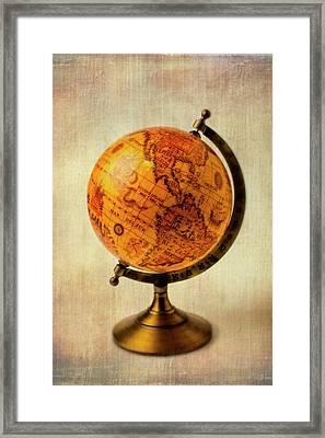 Old Globe Framed Print by Garry Gay
