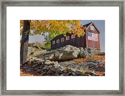 Old Glory Autumn Framed Print by Bill Wakeley