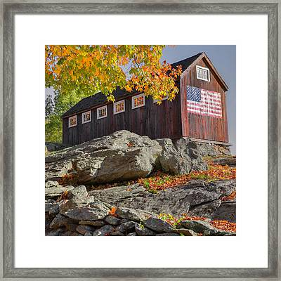 Old Glory Autumn Square Framed Print by Bill Wakeley