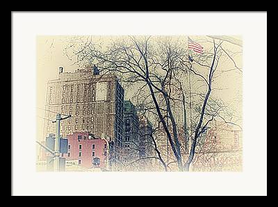 Empire State Buldingtrees Framed Prints