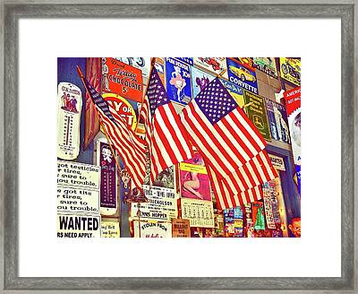 Old Glory Framed Print by Joan Reese