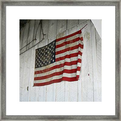 Old Glory Framed Print by Laurel Powell