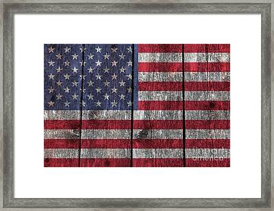 Old Glory On Wood Framed Print by Bruce Stanfield