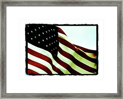 Old Glory Framed Print by Scott Pellegrin