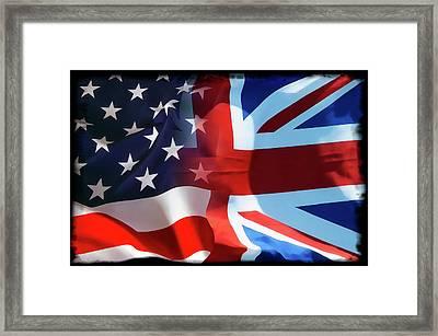 Old Glory Union Jack Framed Print