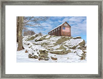 Old Glory Winter Framed Print by Bill Wakeley