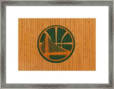 Old Golden State Warriors Basketball Gym Floor Framed Print by Design Turnpike