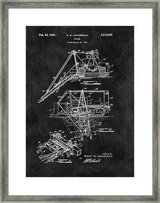 Old Grader Patent Framed Print by Dan Sproul