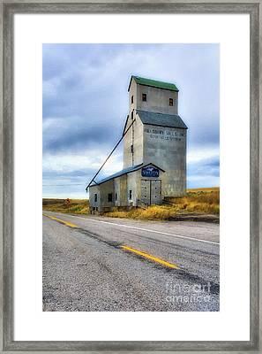 Old Grain Elevator In Idaho Framed Print by Mel Steinhauer