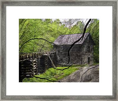 Old Grain Mill Framed Print by Michael Whitaker