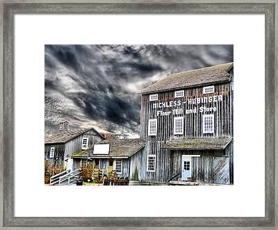 Old Grain Mill Framed Print by Scott Hovind