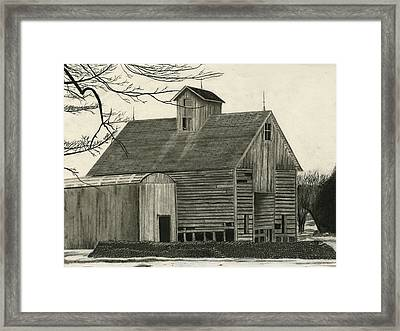 Old Grainery Framed Print