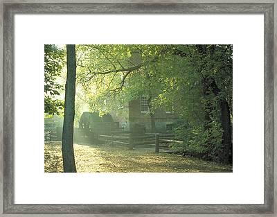 Old Graue Mill  Framed Print by Steve Lappe
