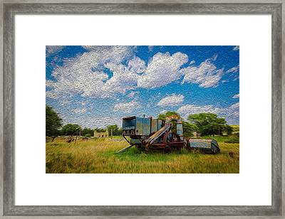 Old Gray Ghost Framed Print by Michael Gross
