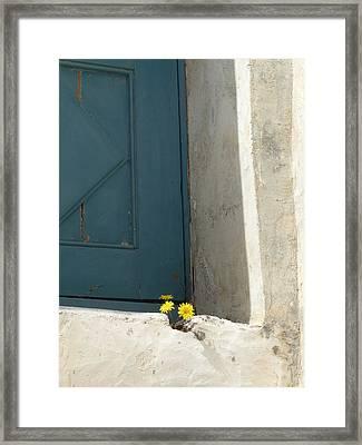 Old Greek Door Framed Print