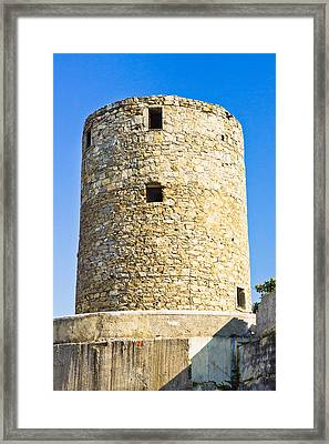 Old Greek Windmill Framed Print by Tom Gowanlock