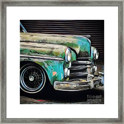 Old Green Car Framed Print by Amy Cicconi
