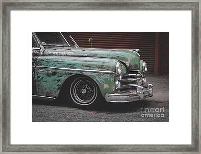Old Green Car Cuba Framed Print