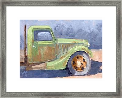 Old Green Ford Framed Print