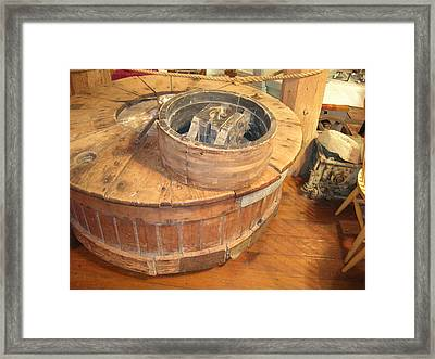 Old Grinding Wheel In A New Environment Framed Print by Amelia Painter