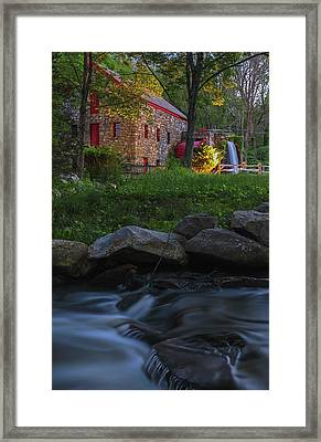 Framed Print featuring the photograph Old Grist Mill At Wayside Inn Historic District by Juergen Roth