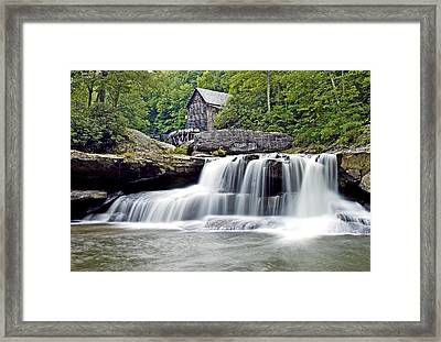 Old Grist Mill In Babcock State Park West Virginia Framed Print by Brendan Reals
