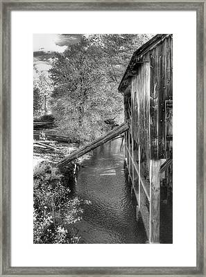 Old Grist Mill Framed Print by Joann Vitali