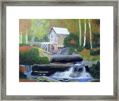 Old Grist Mill Framed Print by John Smith