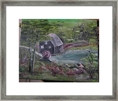 Old Grist Mill Framed Print by M Bhatt