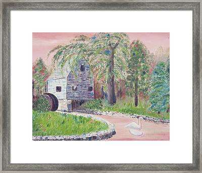 Old Grist Mill Framed Print by Suzanne  Marie Leclair