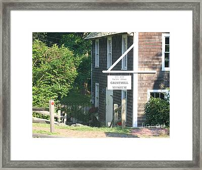 Old Gristmill Framed Print by Amy Holmes