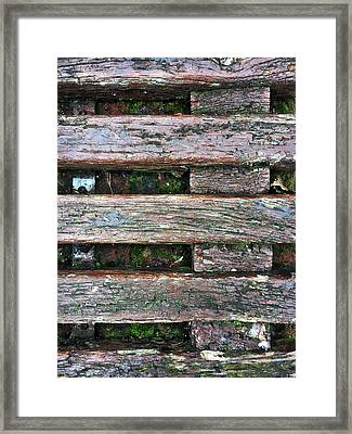 Old Grungy Wood Planks Framed Print by Tom Gowanlock