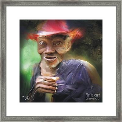 Old Haitian Field Worker Framed Print by Bob Salo